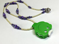 Purple Beaded Row Counting Necklace for Knitting or Crochet , jewelry - Jill's Beaded Knit Bits, Jill's Beaded Knit Bits  - 7