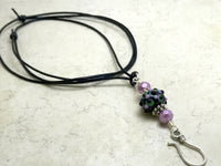 Beaded Portuguese Knitting Necklace | ID Badge Holder