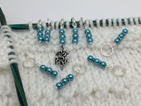 RN Charm Stitch Marker Set for Knitting , Stitch Markers - Jill's Beaded Knit Bits, Jill's Beaded Knit Bits  - 2