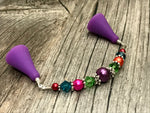 Rainbow Beaded Point Protector Stitch Holder