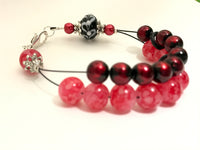 Really Red Abacus Counting Bracelet- Gift for Knitters- Row Counter