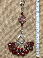 Speckled Knitting Bag Lanyard for Stitch Markers , Stitch Markers - Jill's Beaded Knit Bits, Jill's Beaded Knit Bits  - 3