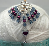 Red Wine Glass Stitch Marker Set , Stitch Markers - Jill's Beaded Knit Bits, Jill's Beaded Knit Bits  - 6