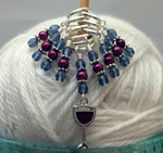 Red Wine Glass Stitch Marker Set , Stitch Markers - Jill's Beaded Knit Bits, Jill's Beaded Knit Bits  - 8