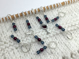 Red Wine Glass Stitch Marker Set , Stitch Markers - Jill's Beaded Knit Bits, Jill's Beaded Knit Bits  - 4