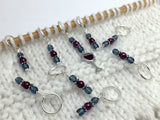 Red Wine Glass Stitch Marker Set , Stitch Markers - Jill's Beaded Knit Bits, Jill's Beaded Knit Bits  - 7