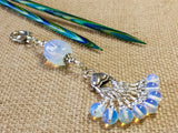 Sea Opal Stitch Markers & Knitting Bag Lanyard , Stitch Markers - Jill's Beaded Knit Bits, Jill's Beaded Knit Bits  - 3
