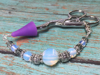 Sea Opal Beaded Lanyard- Scissor Fob Charm , Accessories - Jill's Beaded Knit Bits, Jill's Beaded Knit Bits  - 1