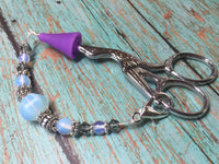 Sea Opal Beaded Lanyard- Scissor Fob Charm , Accessories - Jill's Beaded Knit Bits, Jill's Beaded Knit Bits  - 2
