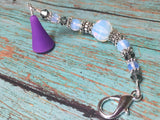 Sea Opal Beaded Lanyard- Scissor Fob Charm , Accessories - Jill's Beaded Knit Bits, Jill's Beaded Knit Bits  - 3