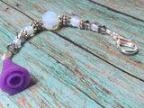 Sea Opal Beaded Lanyard- Scissor Fob Charm , Accessories - Jill's Beaded Knit Bits, Jill's Beaded Knit Bits  - 4