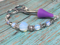Sea Opal Beaded Lanyard- Scissor Fob Charm , Accessories - Jill's Beaded Knit Bits, Jill's Beaded Knit Bits  - 7