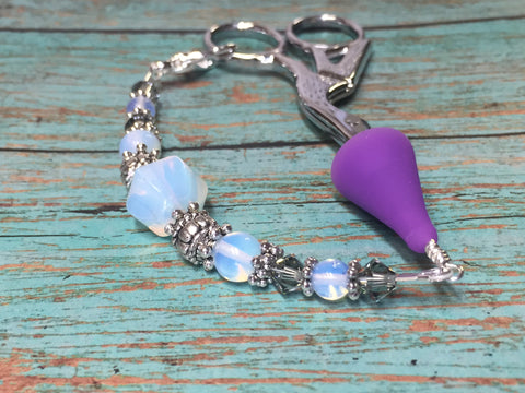 Sea Opal Beaded Lanyard- Scissor Fob Charm , Accessories - Jill's Beaded Knit Bits, Jill's Beaded Knit Bits  - 8
