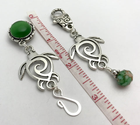 Magnetic Turtle Portuguese Knitting Pin & Stitch Marker Set , Portugese Knitting Pin - Jill's Beaded Knit Bits, Jill's Beaded Knit Bits  - 4
