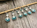 Seashells & Pearls Stitch Marker Set- Gift for Knitters