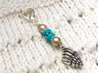 Beaded Seashell Zipper Pull Charm