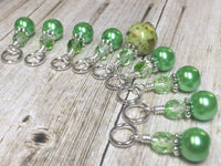 Shades of Green Stitch Marker Set , Stitch Markers - Jill's Beaded Knit Bits, Jill's Beaded Knit Bits  - 1