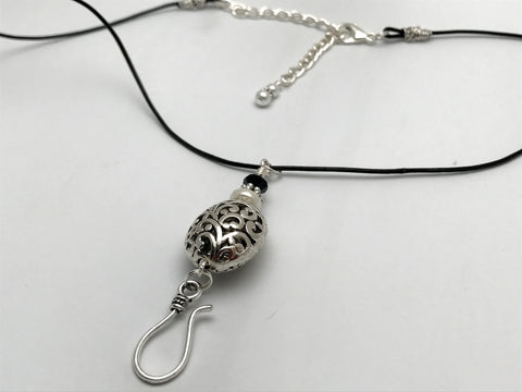 Silver Filigree Portuguese Knitting Necklace- Stitch Marker Holder