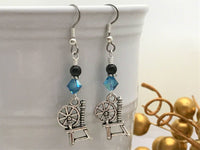 Spinning Wheel Dangle Earrings