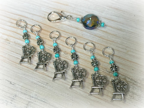 Spinning Wheel Stitch Markers & Holder Set , Stitch Markers - Jill's Beaded Knit Bits, Jill's Beaded Knit Bits  - 2