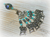 Spinning Wheel Stitch Markers & Holder Set , Stitch Markers - Jill's Beaded Knit Bits, Jill's Beaded Knit Bits  - 4