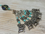 Spinning Wheel Stitch Markers & Holder Set , Stitch Markers - Jill's Beaded Knit Bits, Jill's Beaded Knit Bits  - 5