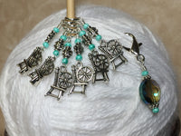 Spinning Wheel Stitch Markers & Holder Set , Stitch Markers - Jill's Beaded Knit Bits, Jill's Beaded Knit Bits  - 6