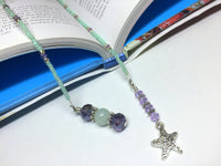 Starfish Beaded Bookmark- Book Thong , Accessories - Jill's Beaded Knit Bits, Jill's Beaded Knit Bits  - 2