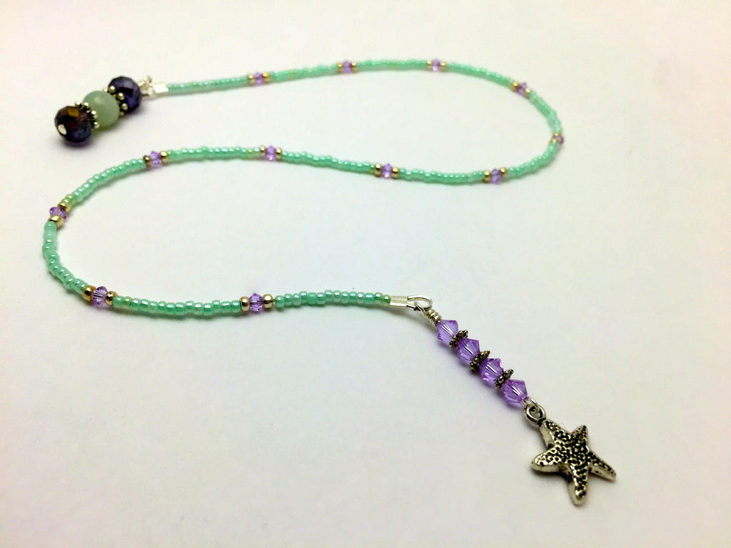 Starfish Beaded Bookmark- Book Thong , Accessories - Jill's Beaded Knit Bits, Jill's Beaded Knit Bits  - 1