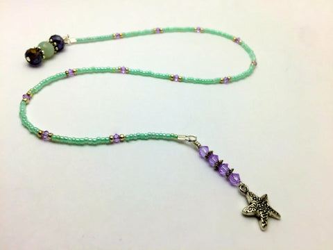 Starfish Beaded Bookmark- Book Thong
