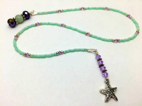 Starfish Beaded Bookmark- Book Thong , Accessories - Jill's Beaded Knit Bits, Jill's Beaded Knit Bits  - 4