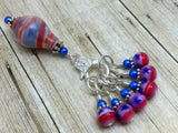 Stars and Stripes Beaded Stitch Marker Holder Set , Stitch Markers - Jill's Beaded Knit Bits, Jill's Beaded Knit Bits  - 2