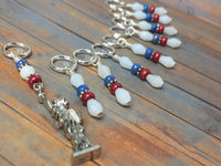 Statue of Liberty Stitch Marker Set , Stitch Markers - Jill's Beaded Knit Bits, Jill's Beaded Knit Bits  - 3