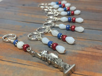 Statue of Liberty Stitch Marker Set , Stitch Markers - Jill's Beaded Knit Bits, Jill's Beaded Knit Bits  - 6