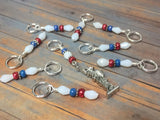 Statue of Liberty Stitch Marker Set , Stitch Markers - Jill's Beaded Knit Bits, Jill's Beaded Knit Bits  - 5