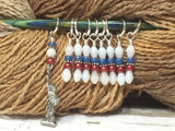 Statue of Liberty Stitch Marker Set , Stitch Markers - Jill's Beaded Knit Bits, Jill's Beaded Knit Bits  - 2