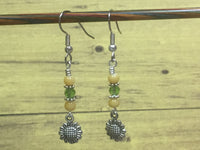 Sunflower Dangle Earrings , jewelry - Jill's Beaded Knit Bits, Jill's Beaded Knit Bits  - 7