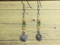 Sunflower Dangle Earrings , jewelry - Jill's Beaded Knit Bits, Jill's Beaded Knit Bits  - 4