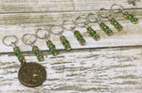 Taurus Zodiac Sign Stitch Marker Set Scorpio- 9 Pieces , Stitch Markers - Jill's Beaded Knit Bits, Jill's Beaded Knit Bits  - 4