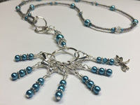 Dragonfly Stitch Marker Necklace Lanyard , Jewelry - Jill's Beaded Knit Bits, Jill's Beaded Knit Bits  - 3