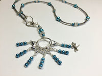 Dragonfly Stitch Marker Necklace Lanyard , Jewelry - Jill's Beaded Knit Bits, Jill's Beaded Knit Bits  - 6
