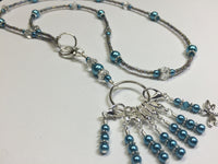 Dragonfly Stitch Marker Necklace Lanyard , Jewelry - Jill's Beaded Knit Bits, Jill's Beaded Knit Bits  - 7