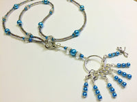 Dragonfly Stitch Marker Necklace Lanyard , Jewelry - Jill's Beaded Knit Bits, Jill's Beaded Knit Bits  - 1