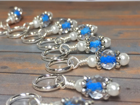 Blue Teddy Bear Stitch Marker Set , Stitch Markers - Jill's Beaded Knit Bits, Jill's Beaded Knit Bits  - 11