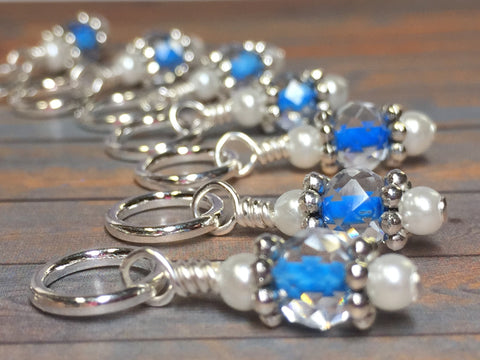 Blue Teddy Bear Stitch Marker Set , Stitch Markers - Jill's Beaded Knit Bits, Jill's Beaded Knit Bits  - 4