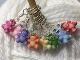 Tiny Teddy Bear Stitch Markers & Holder , Stitch Markers - Jill's Beaded Knit Bits, Jill's Beaded Knit Bits  - 3