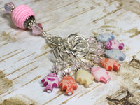 Tiny Fish Stitch Markers & Beaded Holder , Stitch Markers - Jill's Beaded Knit Bits, Jill's Beaded Knit Bits  - 2
