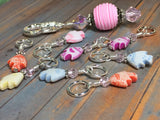 Tiny Fish Stitch Markers & Beaded Holder , Stitch Markers - Jill's Beaded Knit Bits, Jill's Beaded Knit Bits  - 5