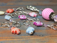 Tiny Fish Stitch Markers & Beaded Holder , Stitch Markers - Jill's Beaded Knit Bits, Jill's Beaded Knit Bits  - 6