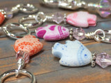Tiny Fish Stitch Markers & Beaded Holder , Stitch Markers - Jill's Beaded Knit Bits, Jill's Beaded Knit Bits  - 3